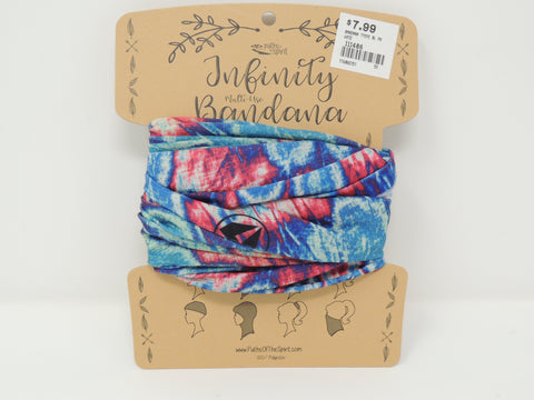Bandana Blue and Pink Tie Dye