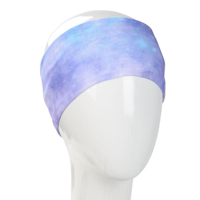 HEADBAND TYE DYE PURPLE TONES