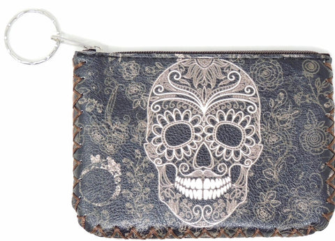 Coin Purse Skull Printed