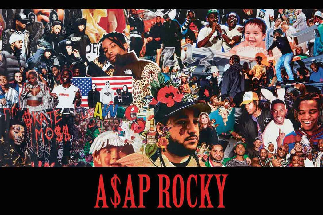 POSTER ASAP ROCKY COLLAGE