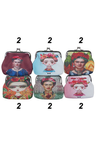 COIN PURSE FRIDA WITH KEY RING