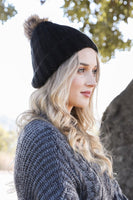 BEANIE FUR POM THERMAL LINING