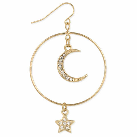 EARRINGS STAR MOON