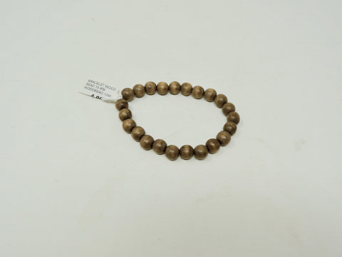 BRACELET WOOD BEAD 10 MM
