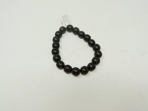 BRACELET WOOD BEAD 12MM