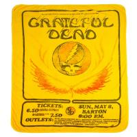 BLANKET GRATEFUL DEAD YELLOW