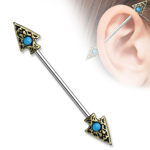 Barbell Industrial Tribal Spear 14g