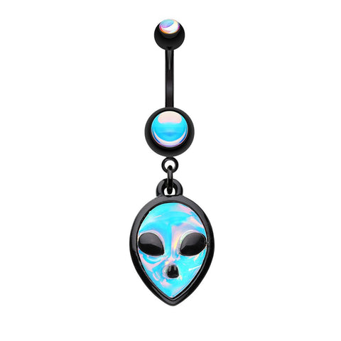 Belly Ring Moonstone Alien 14G