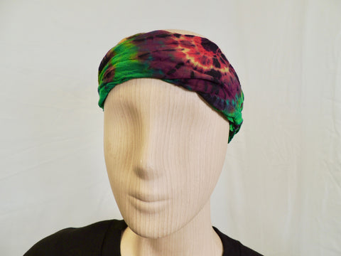 Headband Tye Dye Rainbow