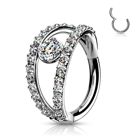 CARTILAGE DOUBLE HOOP CZ 16G