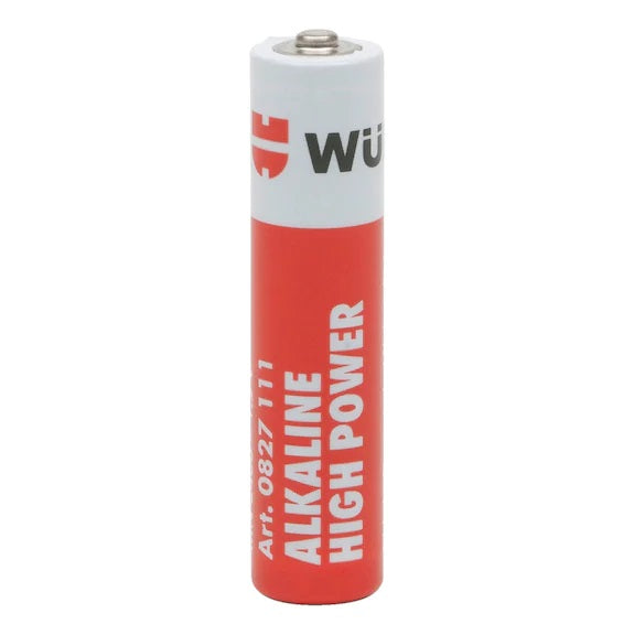 WURTH 0827112 BATTERY ALKAINE HIGH POWER (AA/4PCS)<br>ថ្មពិល