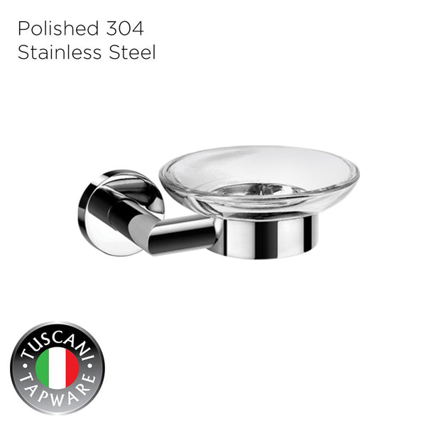 TUSCANI C3SD SOAP DISH 304STAINLESS STEEL MIRROR POLISH <br> ធ្នើរដាក់សាប៊ូ - Home-Fix Cambodia