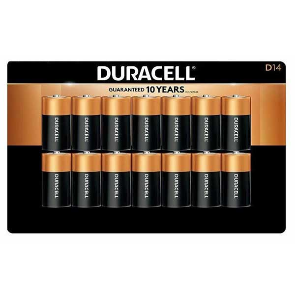 DURACELL BATTERY D LR20 1.5V (14 PCS) - Home-Fix Cambodia