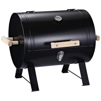 "OUTSUNNY PORTABLE CHARCOAL BBQ 20""  BLACK"