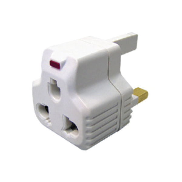 POWERPAC AD3P 2 PIN ADAPTOR W/PACKING<br> ឌុយភ្លើងរន្ឋពីរ - Home-Fix Cambodia