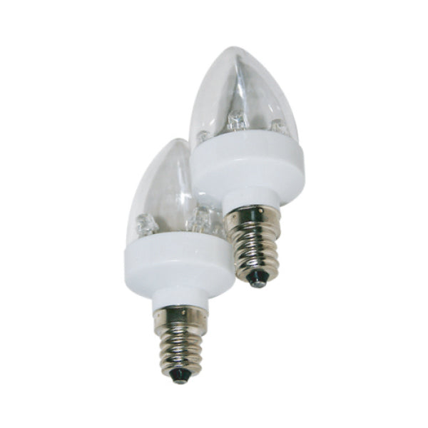 POWERPAC PP6221WW 10LED CANDLE BULB (2PCS PACK) - YELLOW<br>អំពូល អិល អ៊ី ឌី - Home-Fix Cambodia