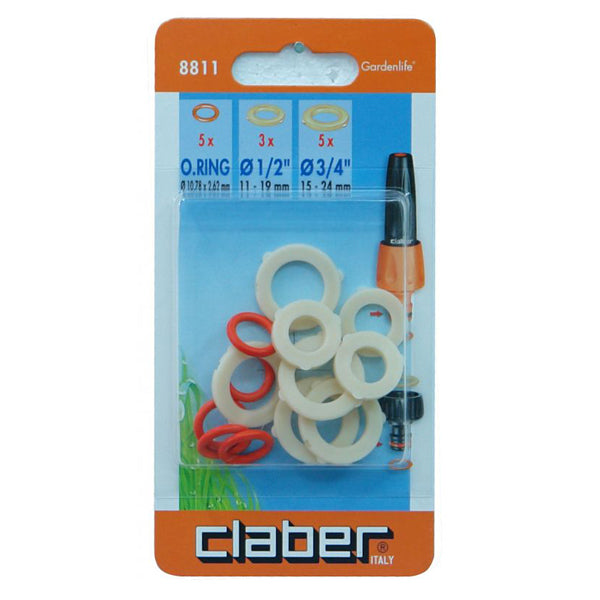 CLABER 48811 O RING AND WASHER SET 10-PK<br>ក្បាលរ៉ូប៊ីណេបាញ់ទឹក - Home-Fix Cambodia