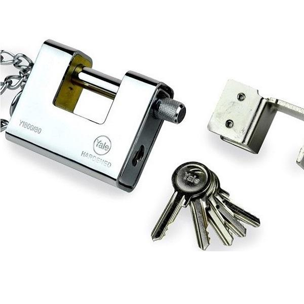 YALE Y1800.80 ARMOURED PADLOCK <br> សោរ - Home-Fix Cambodia