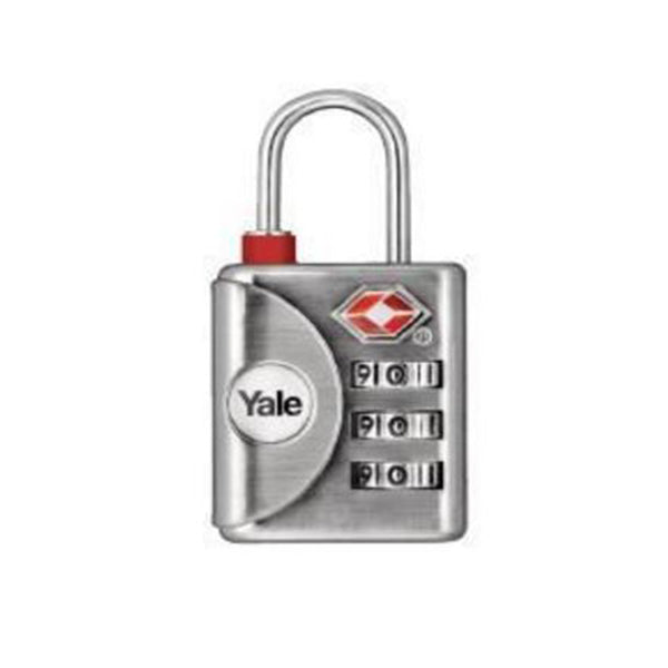 YALE YTP1/32/119 RESETTABLE TRAVEL LUGGAGE PADLOCK GRY <br> សោរចាក់វ៉ាលី - Home-Fix Cambodia