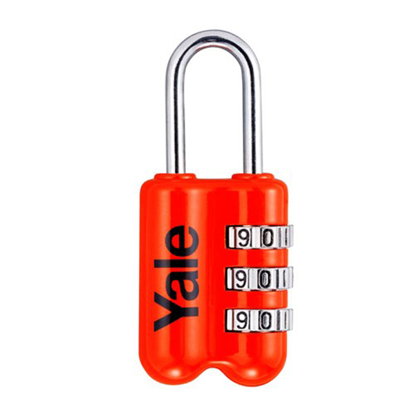 YALE YP2/23/128 RESETTABLE TRAVEL LUGGAGE PADLOCK RED <br> សោរចាក់វ៉ាលី - Home-Fix Cambodia