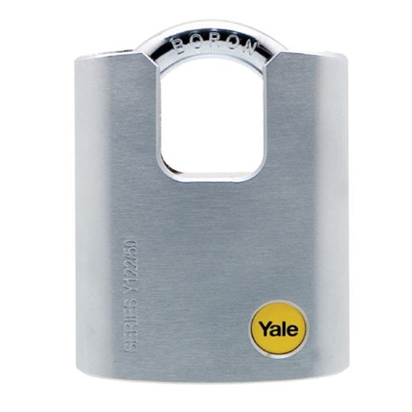 YALE PADLOCK Y122/50/123/1 50MM VP SOLID BRASS 3KEYS <br> សោរ - Home-Fix Cambodia