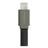 THECOOPIDEA PASTA LIGHTNING CABLE FLAT 1M- GREY/BLACK <br> ខ្សែសាកថ្មទូរសព្ទ - Home-Fix Cambodia