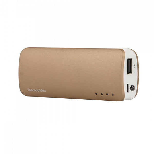 THECOOPIDEA GUMMY MINI 5200MAH 2.4A - GOLD <br> ផាវ័រប៊េង