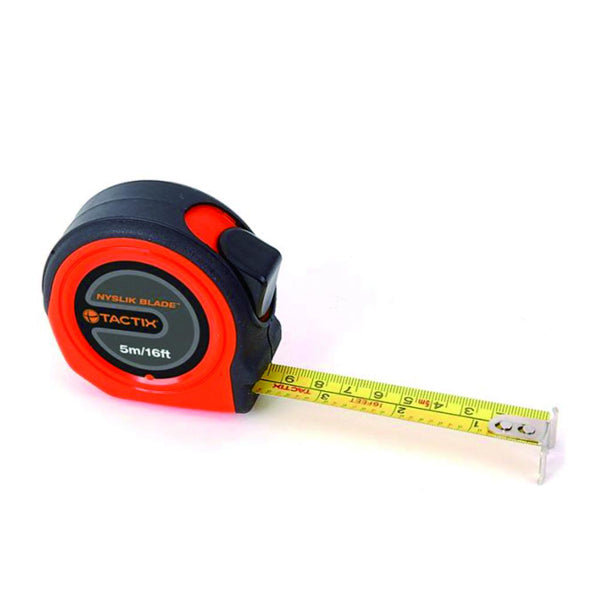 TACTIX 235383 RETRACT MEASURE TAPE 5M(16FT)X19MM <br> ម៉ែត្រ - Home-Fix Cambodia