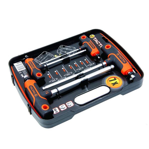 TACTIX 206366 T-HANDLE SET METRIC 7PC <br> ឈុតសោរអក្សរ T - Home-Fix Cambodia