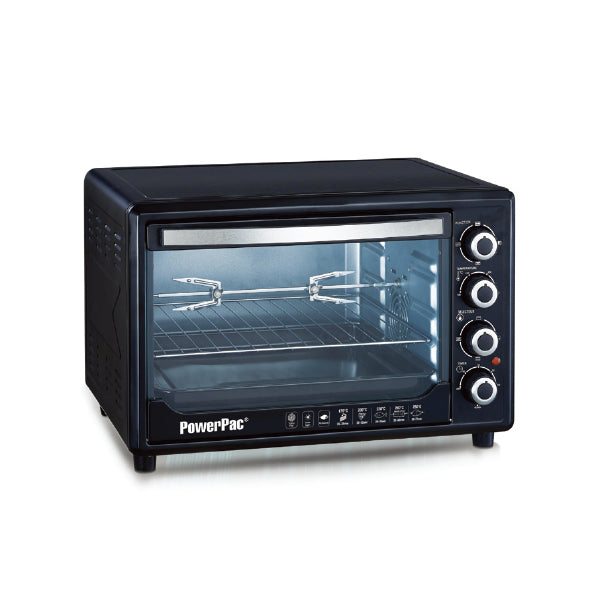 POWERPAC PPT45 ELECTRIC OVEN W/CONVECTION & LIGHT 45L<br>ឡដុតអគ្គសនី 45 លីត្រ - Home-Fix Cambodia