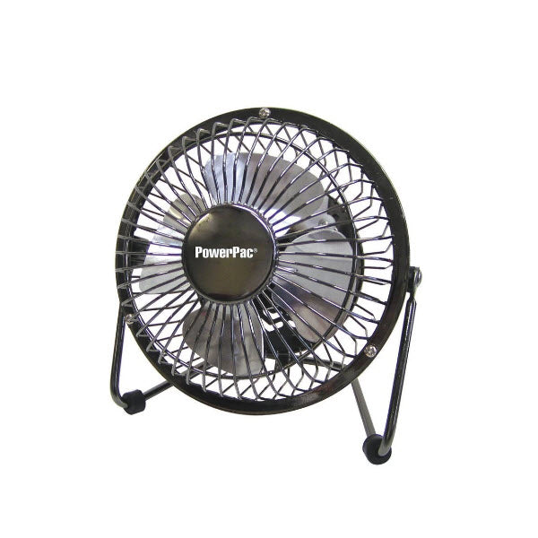 "POWERPAC PPUF226 6"" DESK FAN<br>កង្ហារលើតុ 6 អ៊ីញ ដុយ USB - Home-Fix Cambodia"
