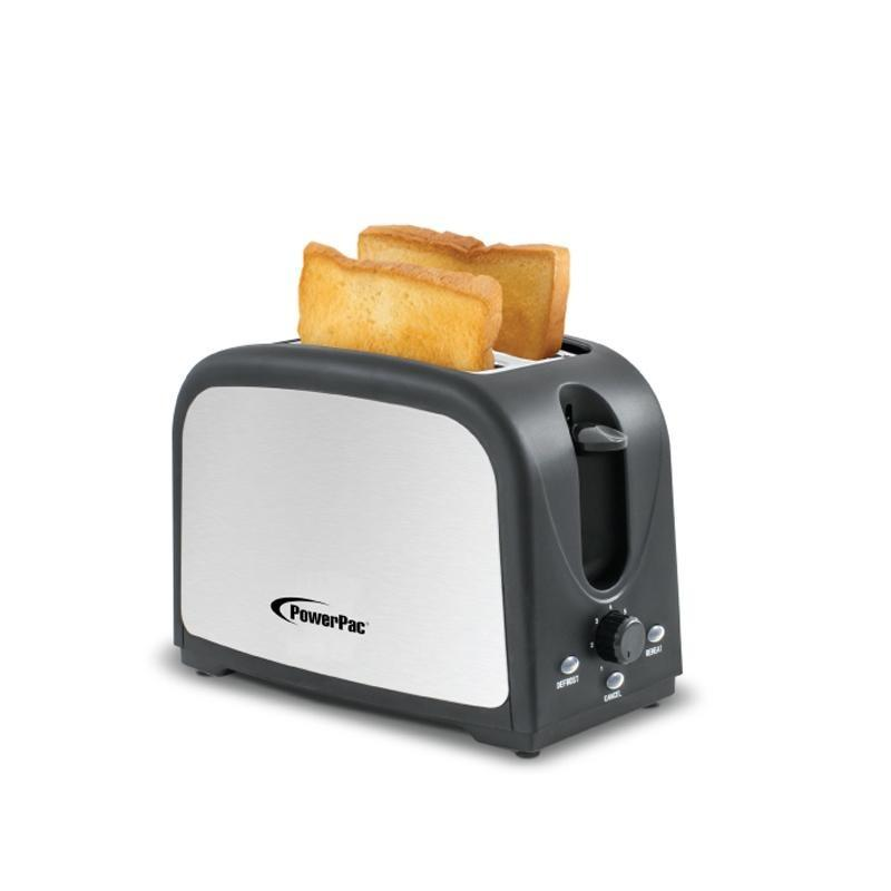 POWERPAC PPT03 2 SLICE BREAD TOASTER