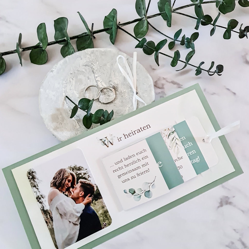 DIY wedding invitation template with step-by-step instructions | Suzu Papers