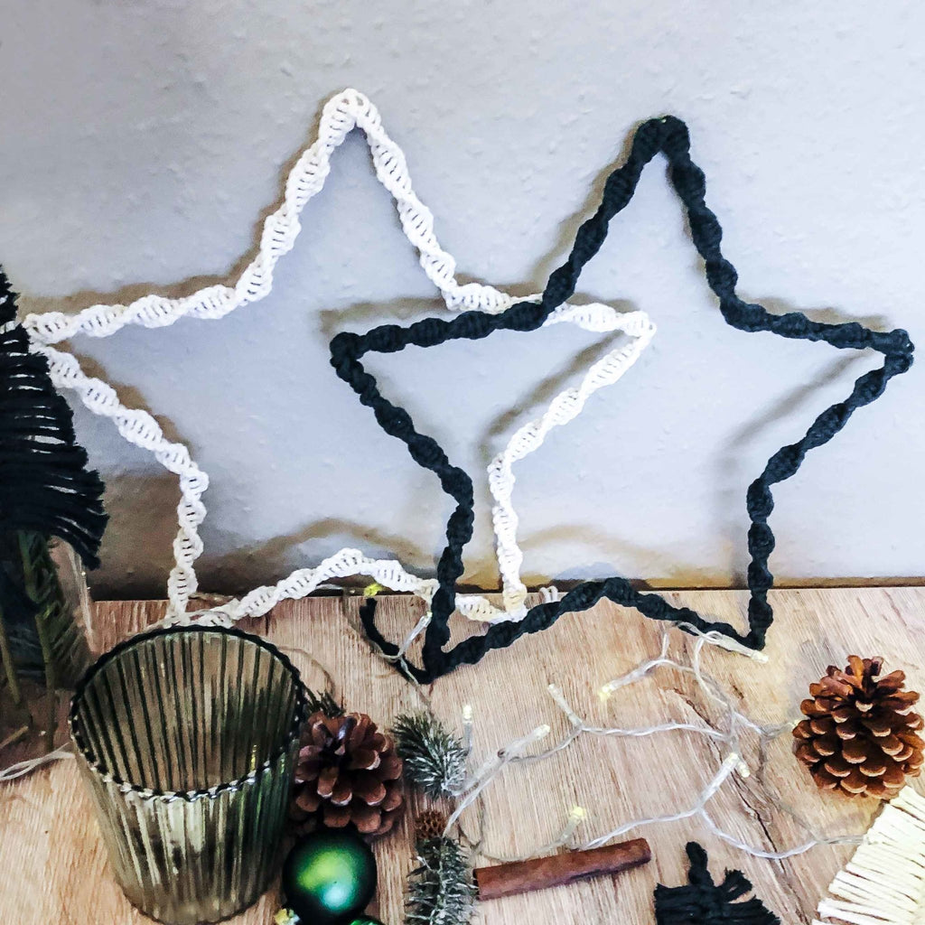 Macrame star simply made by yourself - as a Christmas decoration or as a gift | Suzu Papers