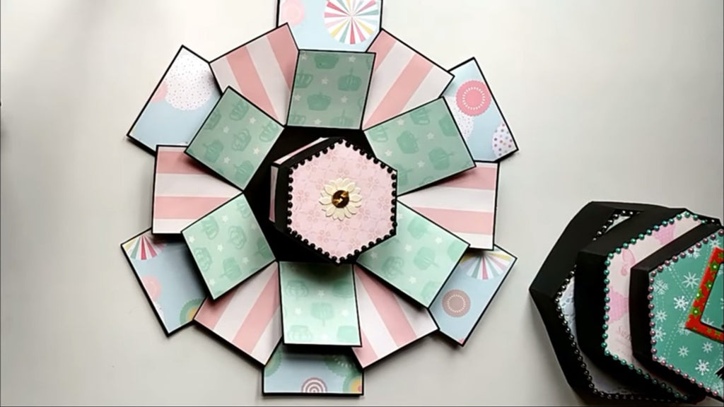 Wie bastelt man eine Hexagon Explosionsbox? - Crafts Space | Suzu Papers