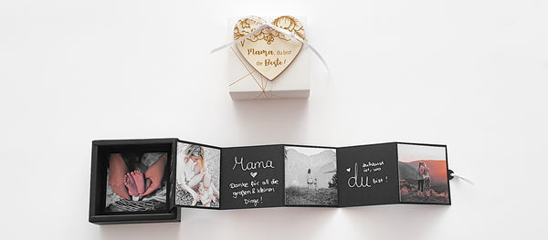 Mother's Day Gift - Wooden Heart and DIY Photo Gift Box - Suzu Papers
