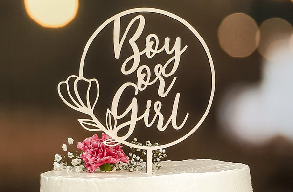 Suzu Papers - Cake Topper Boy or Girl Gender Reveal