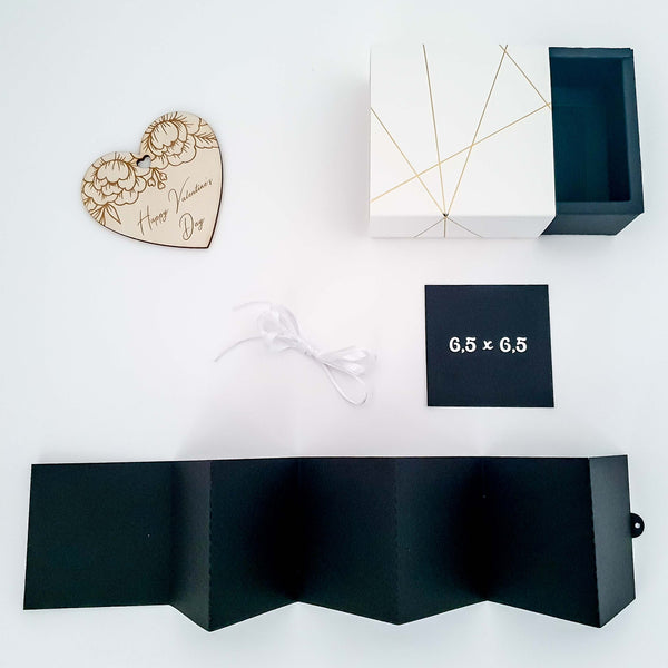 Suzu Papers - Photo album gift box wooden heart DIY