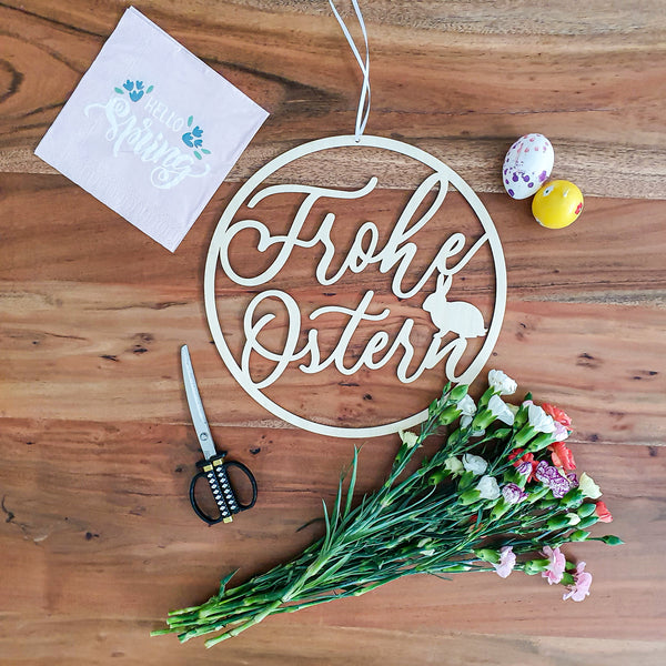 Suzu Papers - decorate Easter wreath