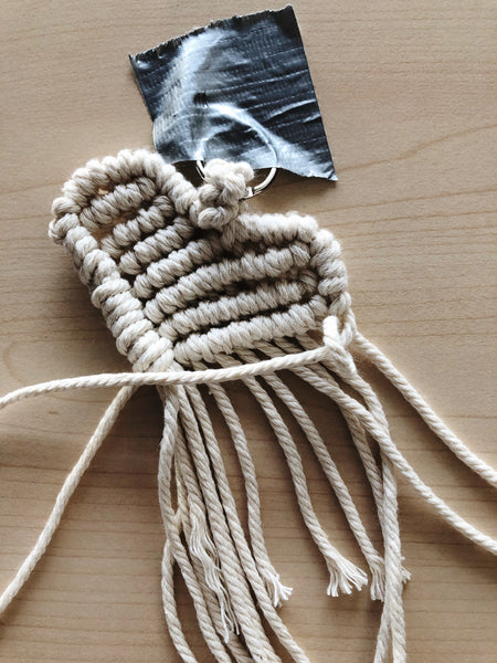 Suzu Papers - Macrame Heart Charms - Adult DIY