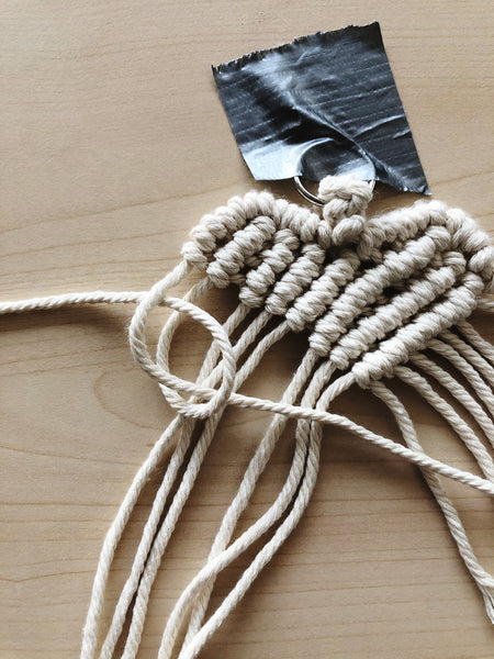 Suzu Papers - Macrame Heart Charms