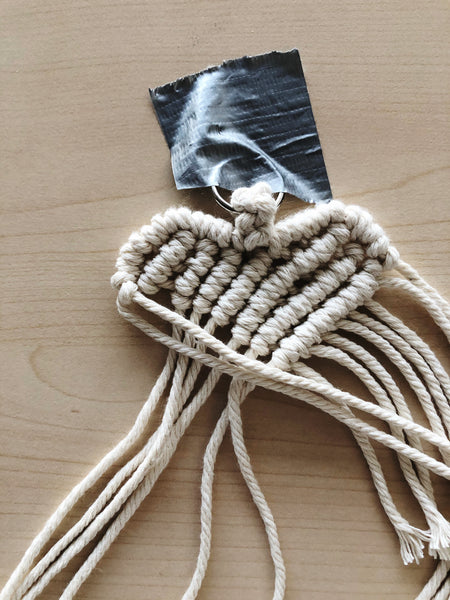 Suzu Papers - macrame heart pendant to make yourself