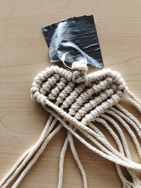 Suzu Papers - make macrame heart charms yourself