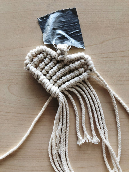Suzu Papers - Macrame Heart Charms - Personal gift to make yourself