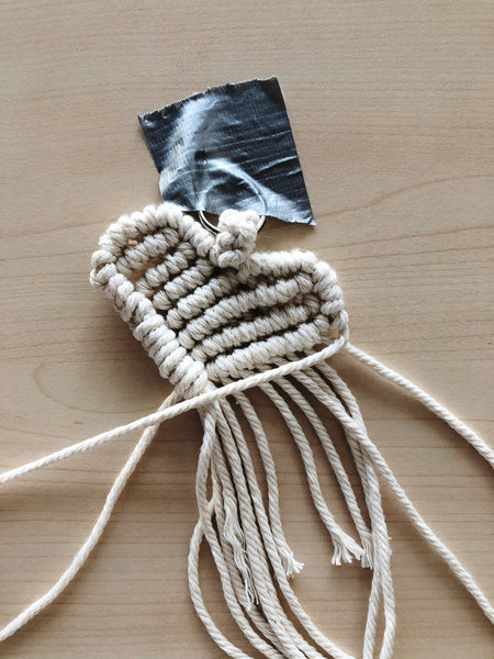 Suzu Papers - macrame heart charms - kids crafting