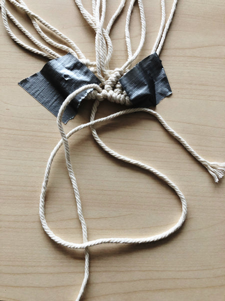 Suzu Papers - knotting and tinkering macrame hearts