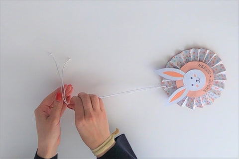 Suzu Papers Blog - Handicrafts with children - Easter decoration hanger 24