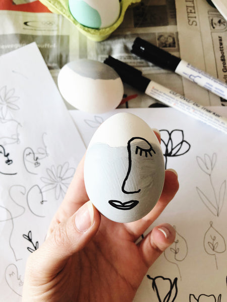 Suzu Papers - painting Easter eggs