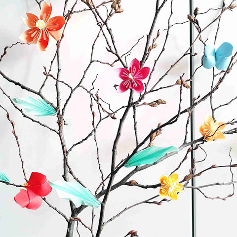 Spring shrub close-up - handicrafts with children - Suzu's handicraft lesson
