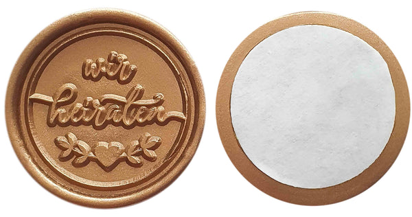 Suzu Papers - Self-adhesive wax seal WE ARE MARRYING